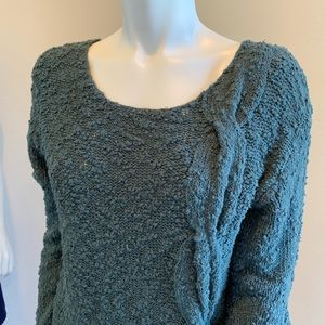 Anthropologie Sweaters - Anthropologie Yellow Bird Label Green Knit Sweater